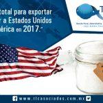 Cupo total para exportar  azúcar a Estados Unidos de América en 2017