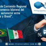 007 – Índice Contenido Regional en el comercio bilateral del sector automotor entre México y Brasil
