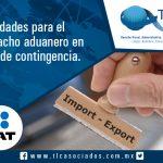 025 – Facilidades para el despacho aduanero en caso de contingencia