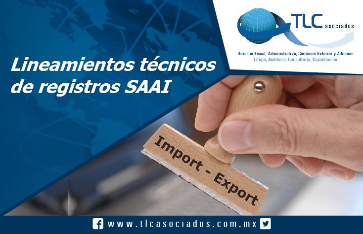 032 – Lineamientos técnicos de registros SAAI