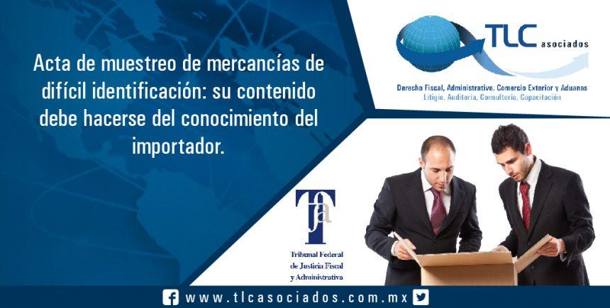 042 – Acta de muestreo de mercancías de difícil identificación: su contenido debe hacerse del conocimiento del importador