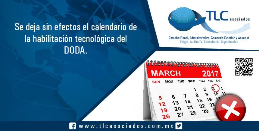 048 – Se deja sin efectos el calendario de la habilitación tecnológica del DODA