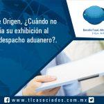 050 – Certificado de Origen, ¿Cuándo no es necesaria su exhibición al momento del despacho aduanero?