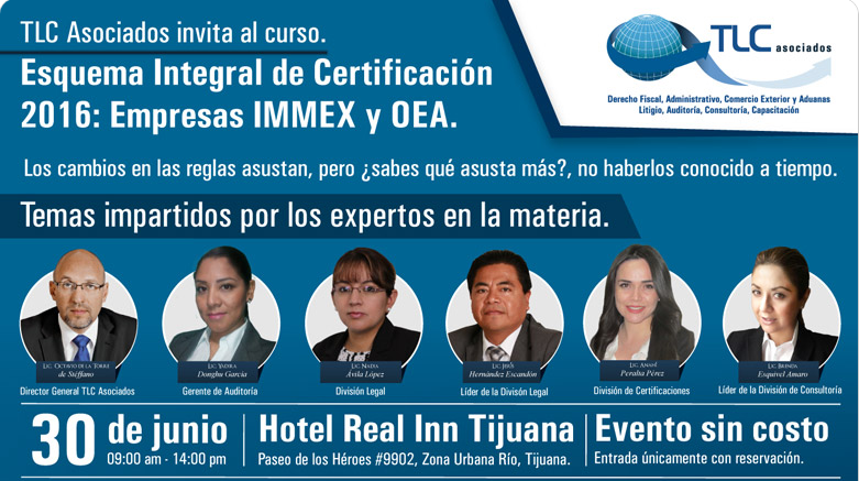 Esquema integral de certificación 2016: Empresas IMMEX y OEA.