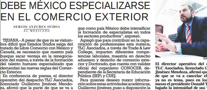 Debe México especializarse en  el comercio exterior