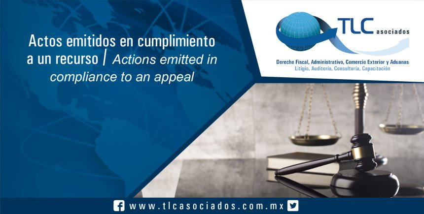 092 – Actos emitidos en cumplimiento a un recurso / Actions emitted in compliance to an appeal