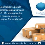 128 – ¿Conoces el procedimiento para la recuperación de mercancía en abandono ante la aduana? / Do you know the procedure to recover goods in abandonment before the customs?
