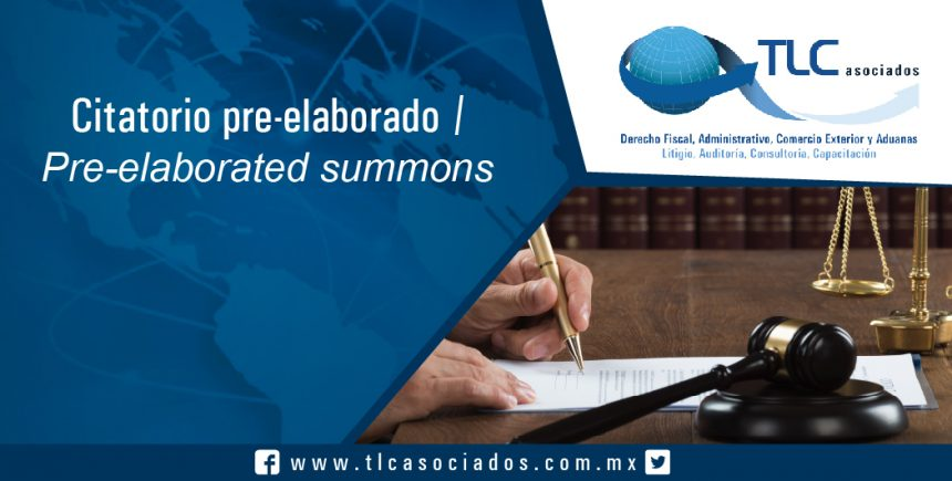 141 – Citatorio pre-elaborado / Pre-elaborated summons