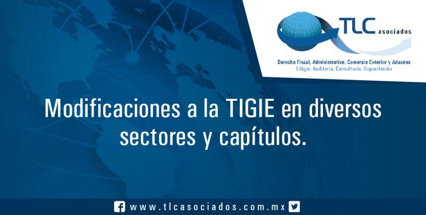T43 – Modificaciones a la TIGIE en diversos sectores y capítulos