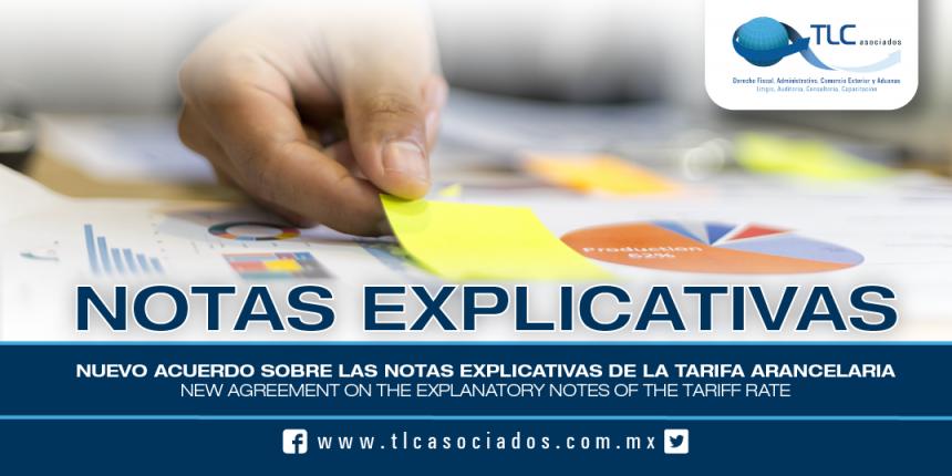 172 – Nuevo Acuerdo sobre las notas Explicativas de la Tarifa Arancelaria / New Agreement on the Explanatory Notes of the Tariff Rate