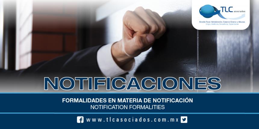 174 – Formalidades en materia de notificación / Notification formalities