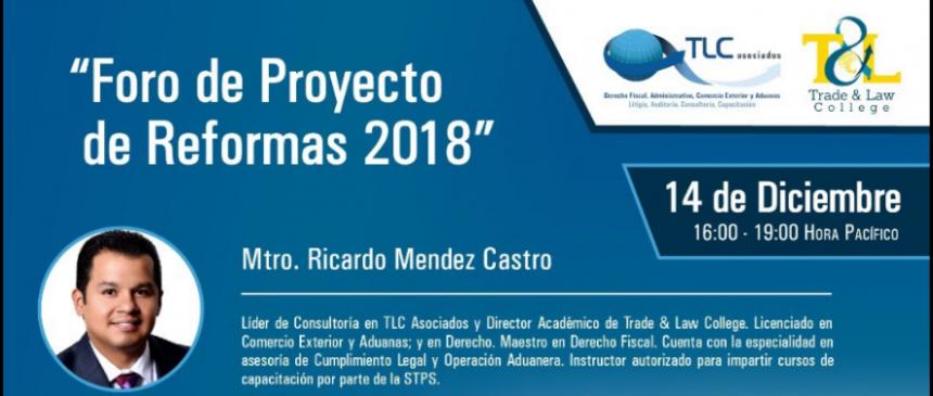 (14-12-17) – Foro de Proyectos de Reformas 2018