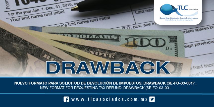185 – Nuevo Formato para solicitud de devolución de impuestos: Drawback (SE-FO-03-001) / New format for requesting tax refund: Drawback (SE-FO-03-001)