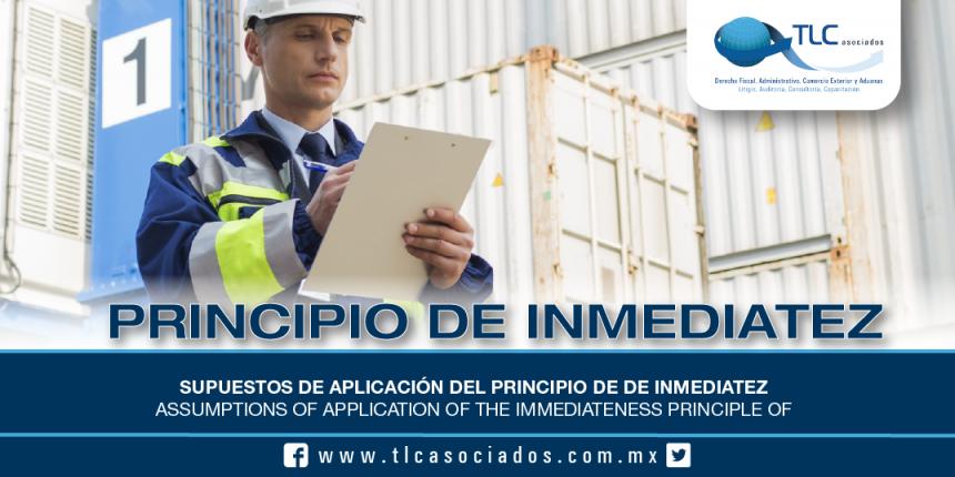 198 – Supuestos de aplicación del Principio de de Inmediatez / Assumptions of application of the Immediateness Principle
