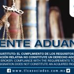 206 – Agente Aduanal Sustituto: el cumplimiento de los requisitos para obtener la designación relativa no constituye un derecho adquirido