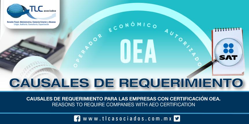 208 – Causales de requerimiento para las empresas con Certificación OEA