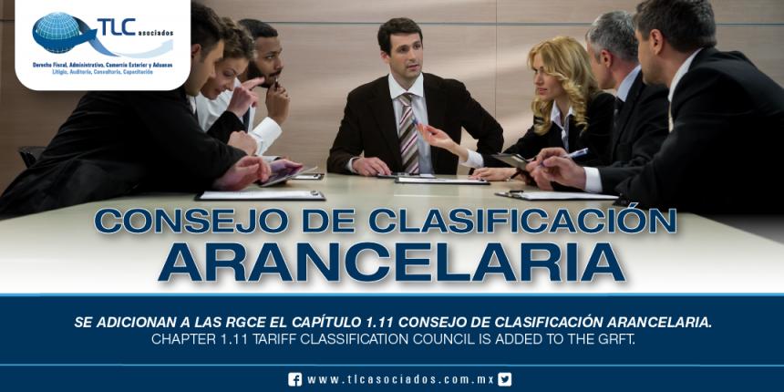 236 – Se adicionan a las RGCE el capítulo 1.11 Consejo de Clasificación Arancelaria / Chapter 1.11 Tariff Classification Council is added to the GRFT