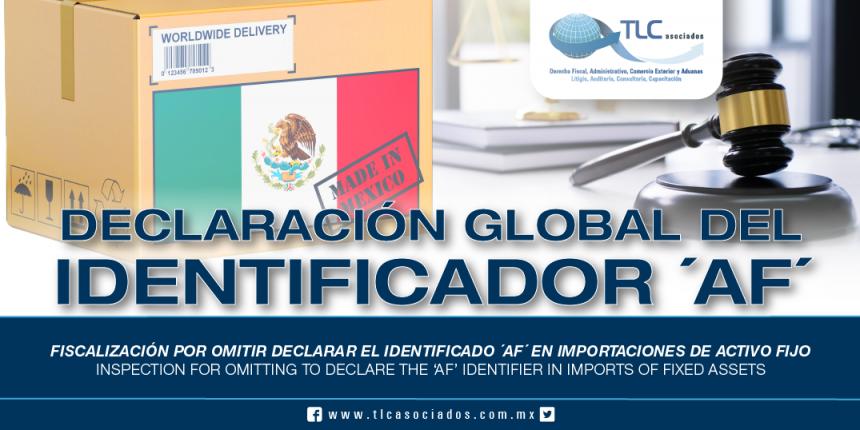 241 – Fiscalización por omitir declarar el identificador 'AF' en importaciones de activo fijo / Inspection for omitting to declare the 'AF' identifier in imports of fixed assets