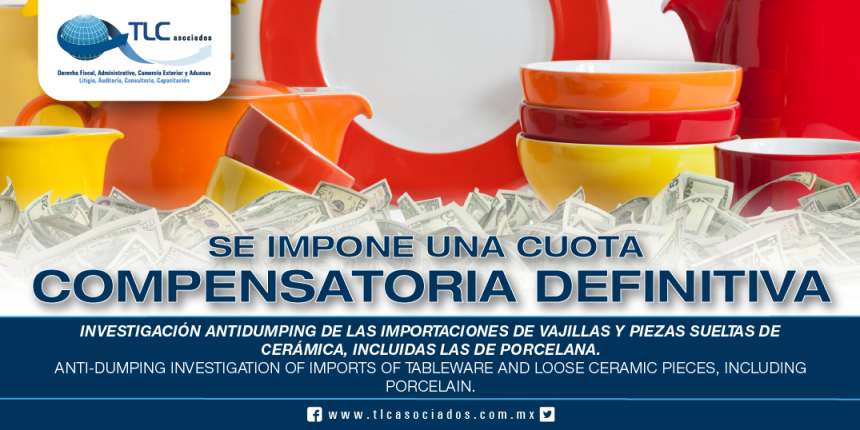 246 – Investigación antidumping de las importaciones de vajillas y piezas sueltas de cerámica, incluidas las de porcelana / Anti-dumping investigation of imports of tableware and loose ceramic pieces, including porcelain