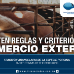 255 – Fracción arancelaria de la especie porcina / Tariff itemms of the pork kind