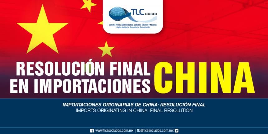 264 – Importaciones originarias de China: resolución final / Imports originating in China: final resolution