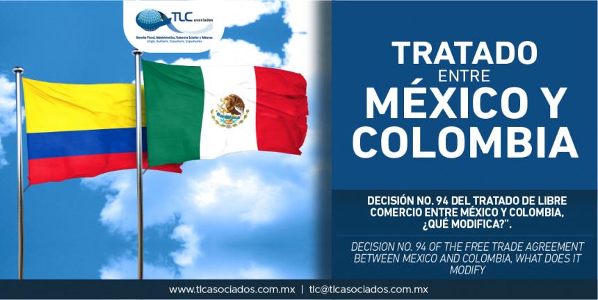 281 – Decisión No. 94 del Tratado de Libre Comercio entre México y Colombia, ¿qué modifica? / Decision No. 94 of the Free Trade Agreement between Mexico and Colombia, what does it modify?