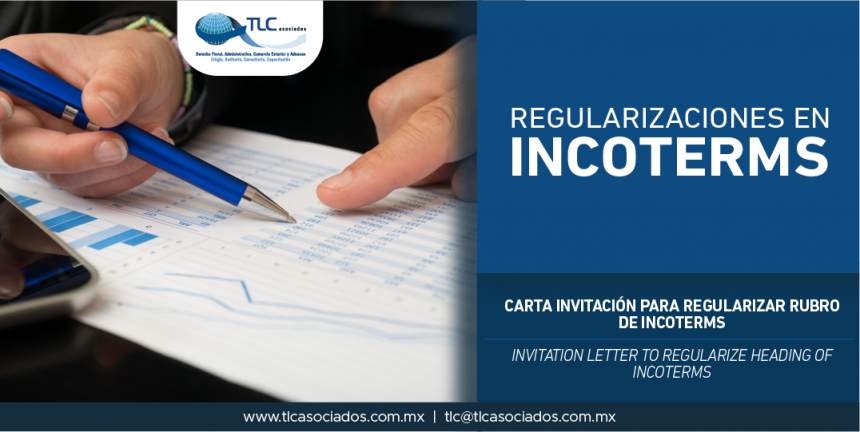 282 – Carta Invitación para regularizar rubro de INCOTERMS / Invitation letter to regularize heading of INCOTERMS