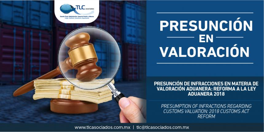 288 – Presunción de infracciones en materia de valoración aduanera: Reforma a la Ley Aduanera 2018 / Presumption of infractions regarding customs valuation: 2018 Customs Act Reform