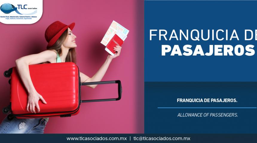 336 – Franquicia de pasajeros/ Allowance of passengers.