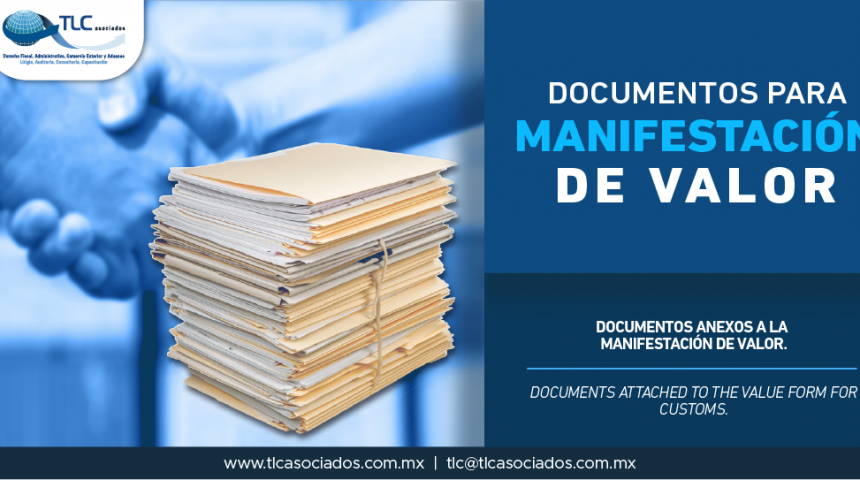 340 – Documentos anexos a la manifestación de valor/ Documents attached to the value form for customs.