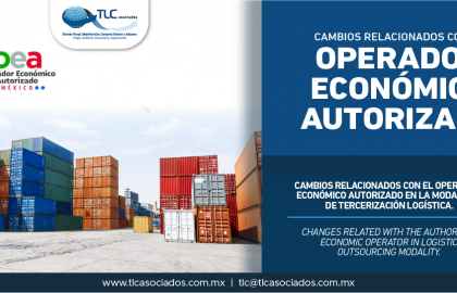 346 – Cambios relacionados con el Operador Económico Autorizado en la modalidad de Tercerización Logística/ Changes related with the Authorized Economic Operator in the Logistics Outsourcing Mode.