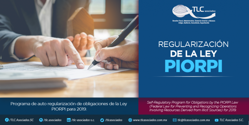 348 – Programa de auto regularización de obligaciones de la Ley PIORPI para 2019.