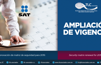 352 – Renovación de matriz de seguridad para 2019/ Security matrix renewal for 2019.