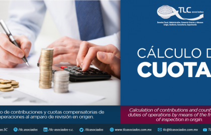 353 – Cálculo de contribuciones y cuotas compensatorias de operaciones al amparo de revisión en origen/ Calculation of contributions and countervailing duties of operations by means of the framework of inspection in origin