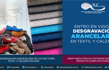 360 –  ENTRÓ EN VIGOR DESGRAVACIÓN  ARANCELARIA EN TEXTIL Y CALZADO/ TARIFF REDUCTION ON FOOTWEAR AND  TEXTILE SECTORS COMES INTO FORCE