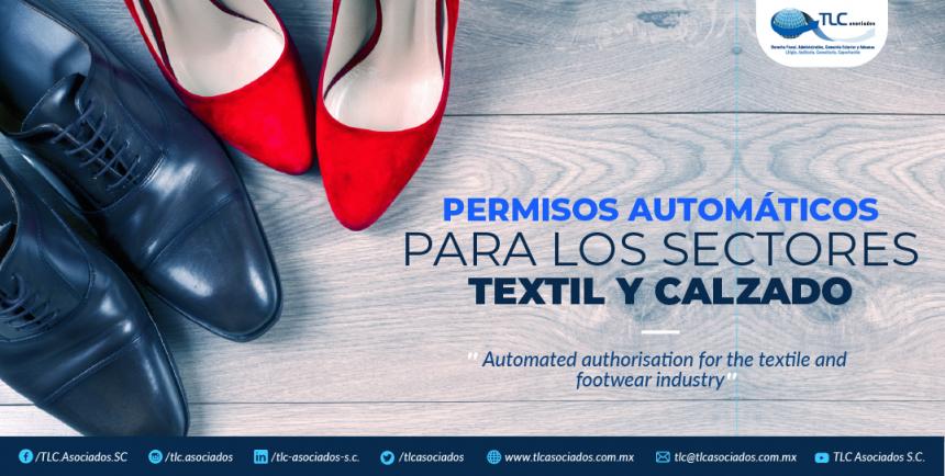 T82 – PERMISOS AUTOMÁTICOS PARA LOS SECTORES TEXTIL Y CALZADO