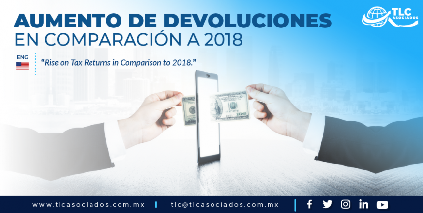 T88 – Aumento de devoluciones en comparación a 2018/ Rise on Tax Returns in Comparison to 2018.