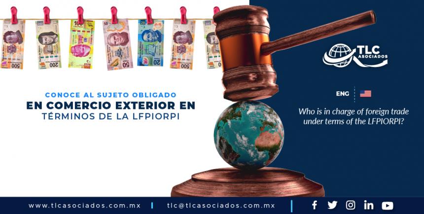 CS1 – Conoce al sujeto obligado en comercio exterior en términos de la LFPIORPI/ Who is in charge of foreign trade under terms of the LFPIORPI?