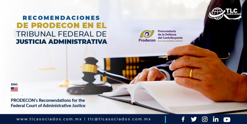AL4 – Recomendaciones de PRODECON en el Tribunal Federal de Justicia Administrativa/ PRODECON's Recomendations for the Federal Court of Administrative Justice