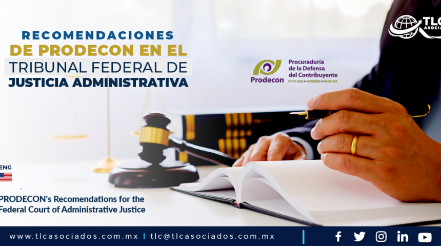 AL4 – Recomendaciones de PRODECON en el Tribunal Federal de Justicia Administrativa/ PRODECON's Recomendations for the Federal Court of Administrative Justice