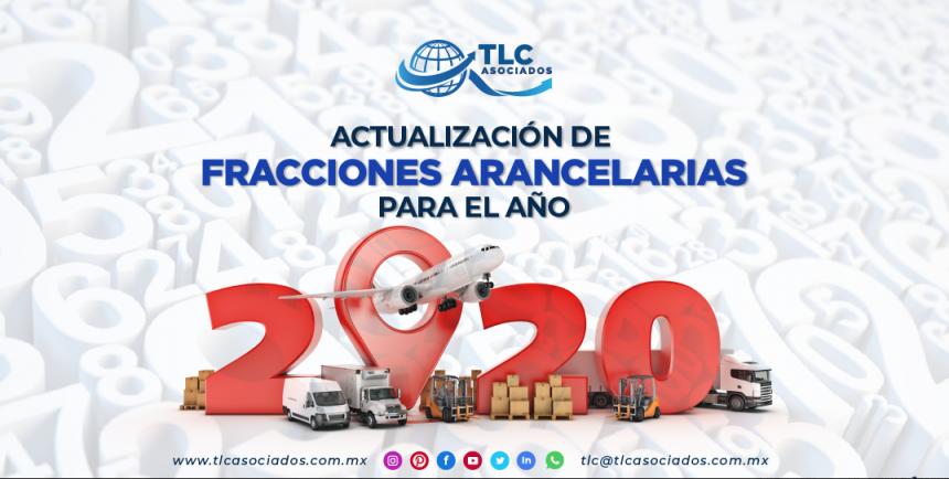 T104 – Actualización de fracciones arancelarias para el año 2020/ Update for the Tariff Items on 2020
