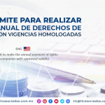 CO9 – Fecha límite para realizar el pago anual de derechos de empresas con vigencias homologadas./ Time limit to make the annual payment of rights of companies with approved validity.