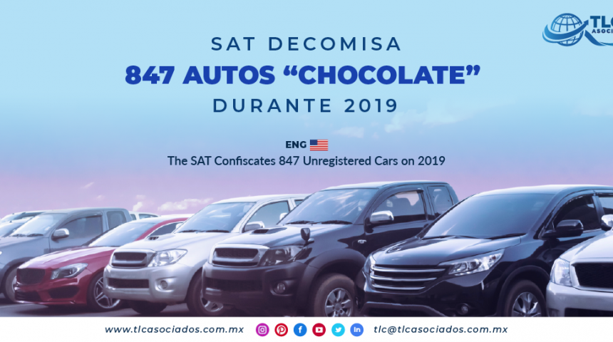 "NC5 – SAT decomisa 847 autos ""chocolate"" durante 2019/ The SAT Confiscates 847 Unregistered Cars on 2019"