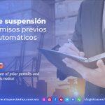 EN12 – Causales de suspensión para los permisos previos y aviso automáticos/ Causes for the suspension of prior permits and automatic notice