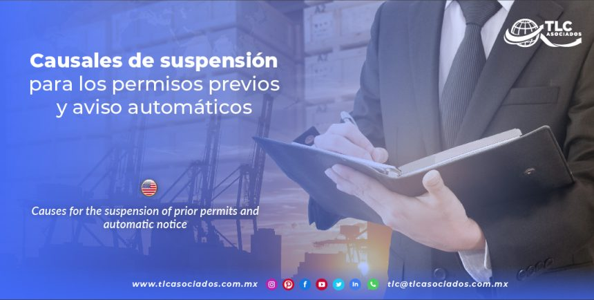 EN12 – Causales de suspensión para los permisos previos y aviso automáticos/ Causes for the suspension of prior permits and automatic notice