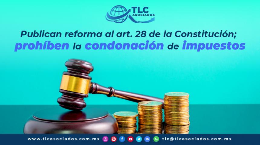 T111 – Publican reforma al artículo 28 de la Constitución; prohíben la condonación de impuestos
