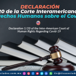 AL18 – Declaración 1/20 de la Corte Interamericana de Derechos Humanos sobre el Covid-19/ Declaration 1/20 of the Inter-American Court of Human Rights Regarding Covid-19