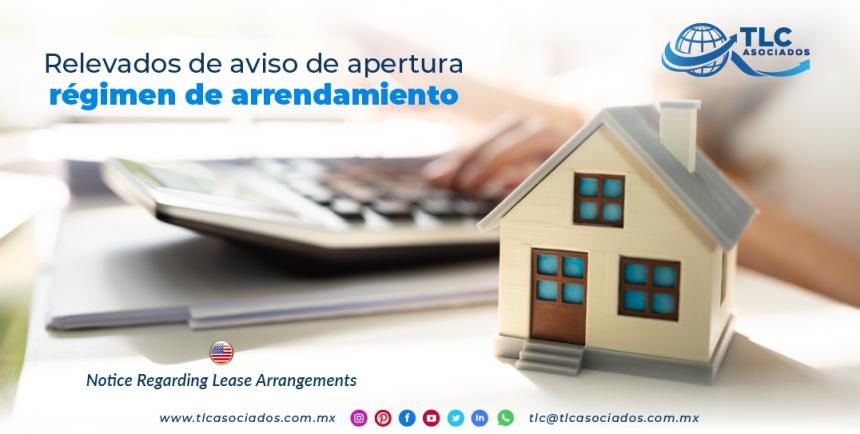 IC12 – Relevados de aviso de apertura régimen de arrendamiento/ Notice Regarding Lease Arrangements