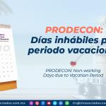 AL21 – PRODECON: Días inhábiles por periodo vacacional/ PRODECON: Non-working Days due to Vacation Period