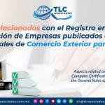 C21 – Aspectos Relacionados con el Registro en el Esquema de Certificación de Empresas publicados en las Reglas Generales de Comercio Exterior para 2020/ Aspects related to the Registration in the Company Certification Scheme published in the General Rules of Foreign Trade for 2020